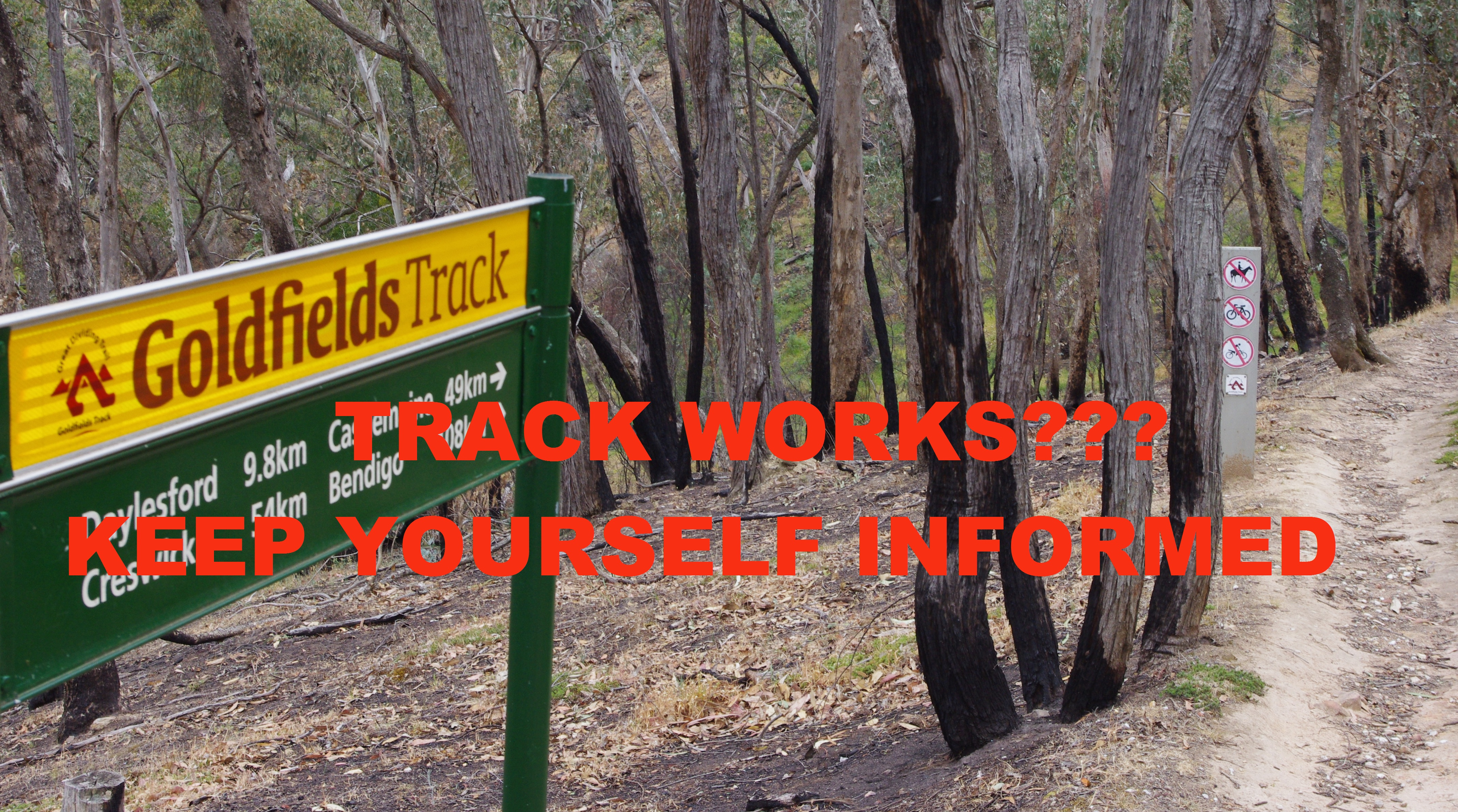 Keep informed on track closures, click for more info