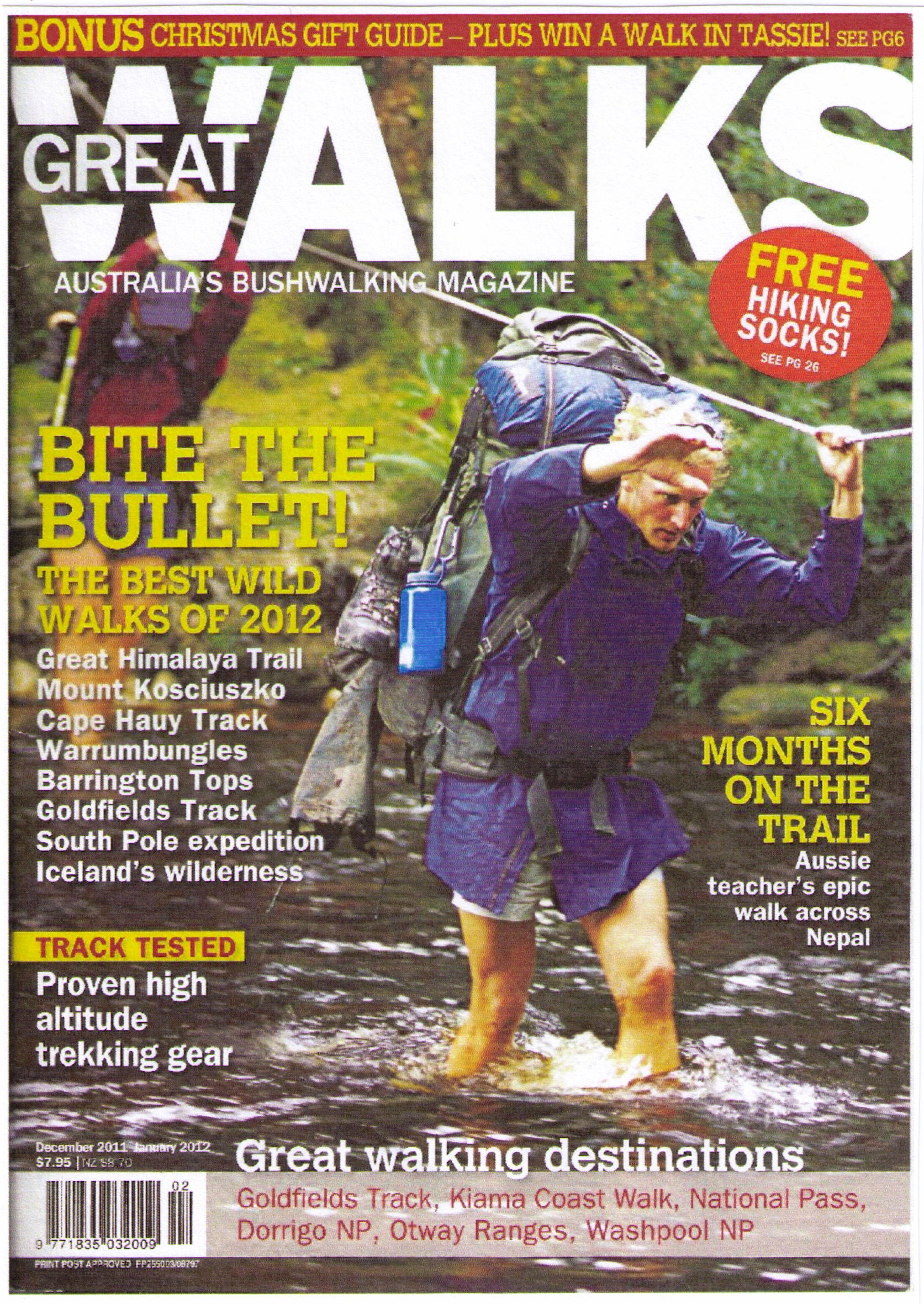 Great Walks Australia, Jan 2012 edition cover
